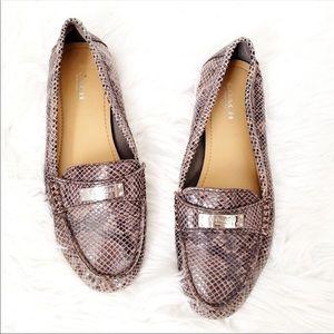 Coach Fredrica Snakeskin Loafers Size 7.5